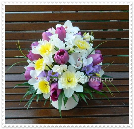 Aranjamente Floralecosuri Cu Flori De Primavara Buchete De Flori