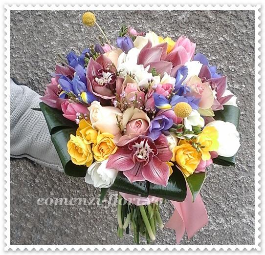 Buchete Flori Primavarafreziilaleleirisiorhidee Aranjamente